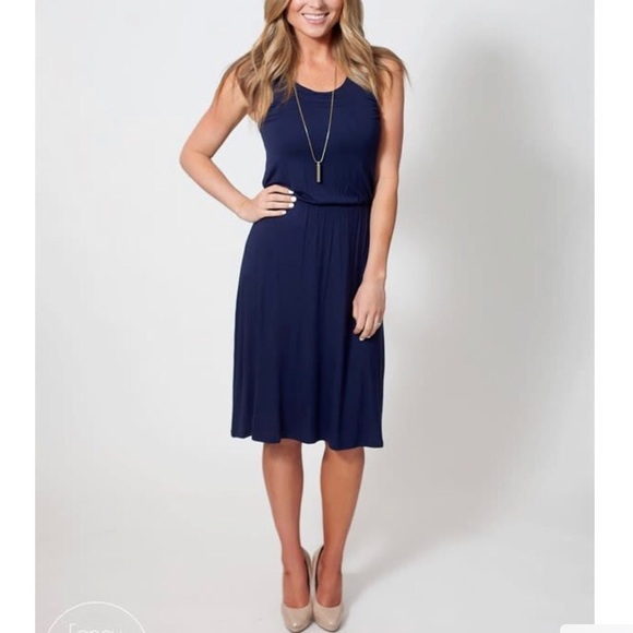 Dresses & Skirts - Navy dress, comfy and great fit for all types
